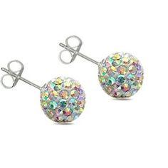 multi-color ball earrings