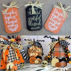 DIY Dollar Store Christmas Trees ~ {Country Charm} by Tracy - Christmas holidays Pumpkin Crafts, Fall Crafts, Halloween Crafts, Holiday Crafts, Rustic Halloween, Pumpkin Wreath, Fall Halloween, Halloween Party, Diy And Crafts