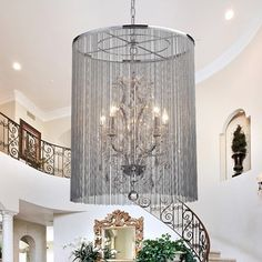 Shop for Rosalias Chain Crystal Chandelier. Get free shipping at Overstock.com - Your Online Home Decor Outlet Store! Get 5% in rewards with Club O! - 16585998