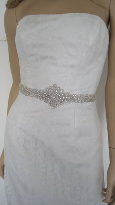 Wedding dress sashcrystal wedding beltbridal by Diamondweddingveil, $65.00