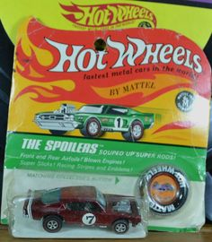1970 Vintage Hot Wheels Redlines Red Lines King Kuda Red Blister Pack MOC HK