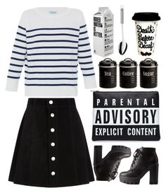"""black and write"" by ecem1 ❤ liked on Polyvore featuring HANIA by Anya Cole, AG Adriano Goldschmied, Charlotte Russe, Typhoon and WMF"