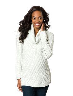 <li>maternity sweater <li>long sleeve <li>cowl neck <li>cable knit <li>cotton  / acrylic <li>cable knit <li>machine washable <li>imported