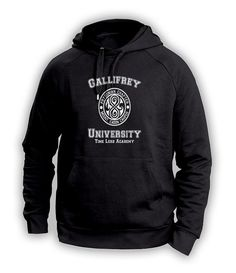 Custom Gallifrey University Timelord Academy Hoodie sweatshirt inspired by Dr Who