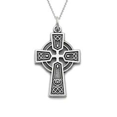 01a8d87671e2 Bling Jewelry Sterling Silver Celtic Cross Necklace Chain 18in Bling Jewelry.   39.99. Comes with 18in rolo chain. .925 Sterling Silver. Polished finish.