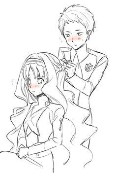 Mitsuru x Kokoro ♡ Best Anime Couples, L Death Note, Mysterious Girl, Zero Two, Darling In The Franxx, Kokoro, Anime Ships, More Cute, Anime Comics