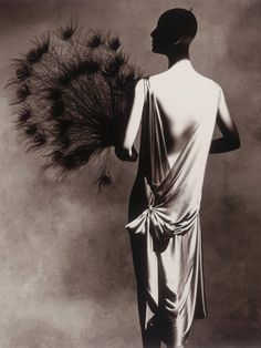 Photo by Irving Penn (1917-2009), 1974, Vionnet Dress with Fan 1925/26, New York.