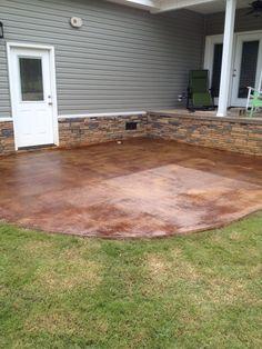 acid stain pool deck | concrete | pinterest | acid stain
