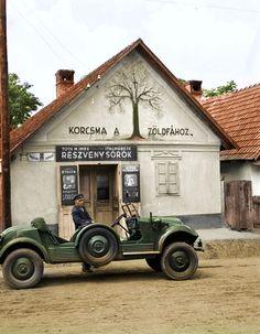 Pub in Hungary, Budapest, Ww2 Pictures, Mini Trucks, School Photos, German Army, Modern Warfare, Military History, Play Houses, World War Ii, Hungary