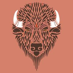 American Bison - Vector Artwork