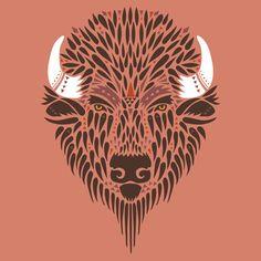 American Bison - Vector Artwork