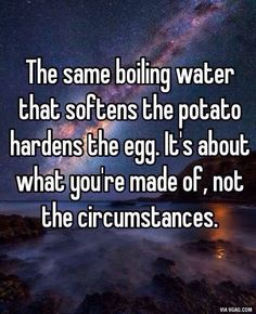 Stop blaming the circumstance!