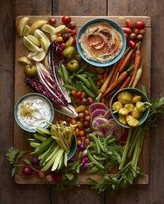 une alternative végétarienne au plateau de charcuterie, entrée végétarienne aux crudités