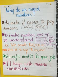 Rounding: why do we round numbers? Love Math, Fun Math, Math Activities, Second Grade Math, Fourth Grade, Grade 3, Third Grade, Math Numbers, Rounding Numbers
