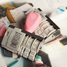 Rolo bonito selos DIY palavras e data Scrapbooking selo do vintage zakka carimbo de scrapbook deco suprimentos material escolar 6472(China (Mainland))