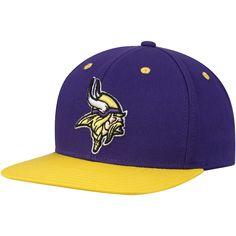 737e3f5ac Minnesota Vikings Youth Two-Tone Flatbrim Snapback Adjustable Hat  Purple Gold. NFL Caps   Hats