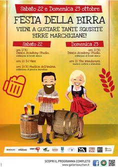 """A tutti gli amanti della birra artigianale di qualità e del divertimento: quest'anno al Centro Commerciale Auchan Fano il 22 e 23 ottobre abbiamo organizzato un evento imperdibile con musica, intrattenimento e i migliori birrifici marchigiani in collaborazione con Asd Dance Accademy & Studio Fitness, Wanderers, Associazione """"Musica dell'Anima"""" di pizzica salentina e dj max Massimo E Paola Mancini.  Venite a trovarci!  #Fano #Auchan"""