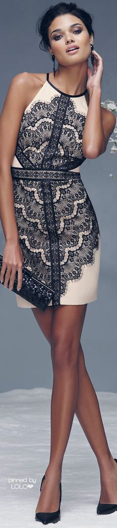 Bebe | The lace on this dress is beautiful…