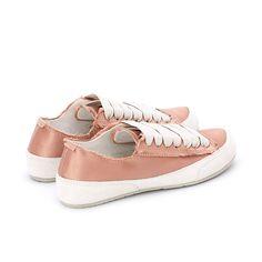 Parson Satin Sneaker Bisque Summer Sneakers, School Fashion, Signature Logo, Comfortable Fashion, Bag Making, Sneakers Fashion, Old School, Dust Bag, Baby Shoes