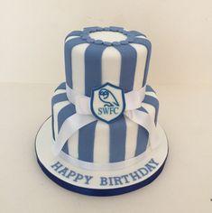 Sheffield Wednesday 2 tier cake