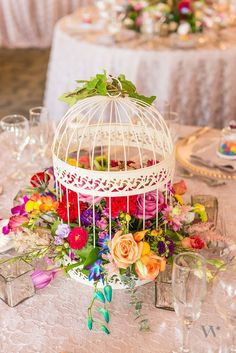 Simple ideas to create a colourful wedding summer wedding 25 truly amazing birdcage wedding centerpieces with tutrial junglespirit Images