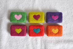 Mini Felted Heart Soap Gift Set  Great by secondstorysoapworks, $20.00