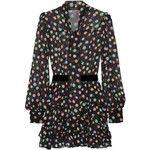 Marc Jacobs Belted polka-dot chiffon mini dress