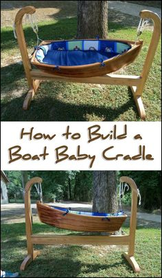 Expecting a new addition to the family anytime soon? How about making a unique DIY baby boat cradle for your little one! :)