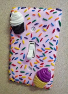 Cupcake Sprinkle Light Switch Cover