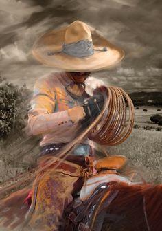 """The rope"". Artist: Emilio Garcia Salazar  http://emiliogarciasalazar.prosite.com"