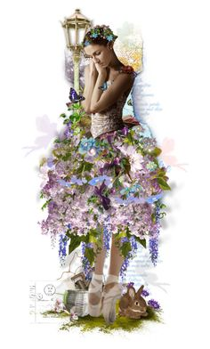 """Enchanted"" by lastchance ❤ liked on Polyvore featuring art, Flowers, dolls, MAGICAL and lastchance"