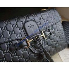 466259d2396 Buy a Gucci Emily Guccissima Large Chain Shoulder Bag GU295402-black at  cheap price-