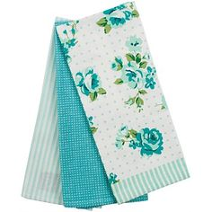 Briscoes - Just Home Rosalea Tea Towels Teal