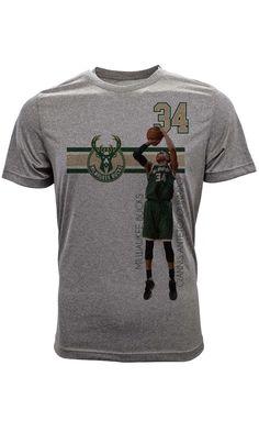 e149039f52d6 Giannis Antetokounmpo Milwaukee Bucks Bar Stripe Player T-Shirt