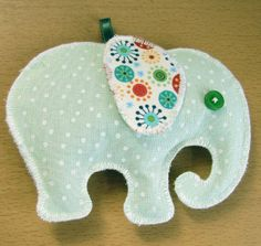 Fabric elephant shaped lavender filled sachet/ pouch. by TCCshop, £6.00
