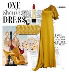 """One shoulder dress"" by chicbluemarty ❤ liked on Polyvore featuring Pottery Barn, Martin Grant, N°21, Oscar de la Renta, Marni, Bottega Veneta and Dolce&Gabbana"