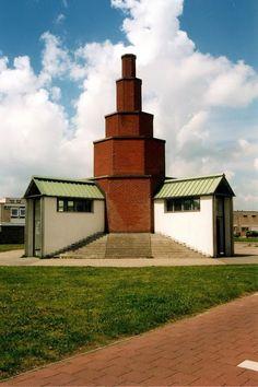 Monumento Urbano, Zaandam,Holanda, Aldo Rossi, 1989