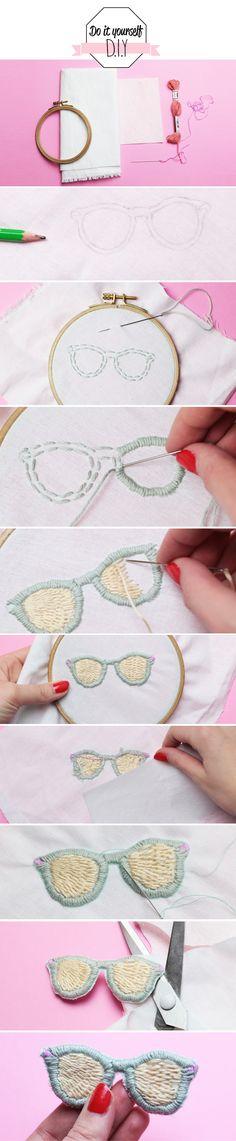 diy-un ecusson lunettes de soleil