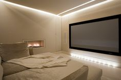 Basement Extension Home Cinema by Luxury Interior Designers Lawson Robb