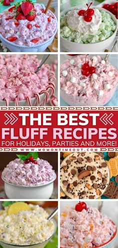 These simple, delicious fluff recipes are the BEST and a must-make for the holidays! You don't want to miss out on this list of every flavor imaginable, from Pina Colada, Reese's, Ambrosia Salad, and more. Serve these easy, one-bowl desserts on Thanksgiving and Christmas!