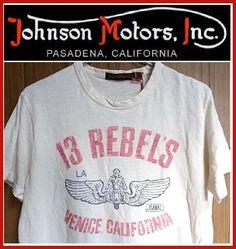 【全国送料無料】Johnson Motors Inc.【ジョンソンモータース】13 REBELSDIRTY WHITEメンズ/トップス/Tシャツ/プリント/オフホワイト/ヴィンテージ/アメリカ/バイカーズ/インポート/白/ウィング/【楽天●メンズF】【楽天市場】