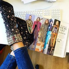 Follow Sarah Harris, the Fashion Features Director for British Vogue, on Instagram for fashion career inspiration.