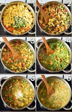 Vegan Vegetable Soup | Potato and pea stew - Elavegan - #elavegan #potato #vegan #vegetable - #ItalianDinnerRecipes