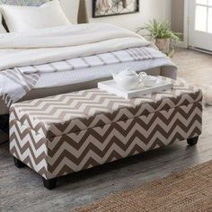 Truffle Brown Chevron Storage Ottoman. This is what I want