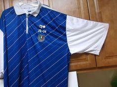 Fila Blue Stripped Soccer Jersey Heritage Collection Fila Home Jersey Size 4XL #Fila #Italy