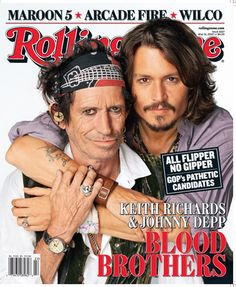 Keith and Johnny Depp on the cover of Rolling Stone, 2007