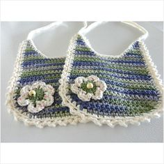 BABY bib set 100% cotton crochet white, color hues 6.5 inch x 6.5 inch #003 on eBid United States
