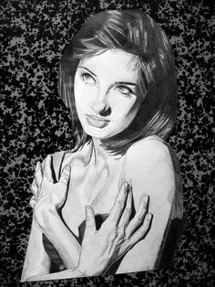 Susan Coffey by Portrait Lc https://www.facebook.com/PortraitLc #art #drawing #Graphit #portrait #black #white