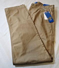 "Adidas Slim Chinos 32"" W 32 Originals slim fit plain front Mens pants khaki NWT #adidas #CasualPants"