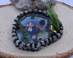 Mini-Teich, Fairy Gartenteich, Miniatur Koi Teich, Miniatur-Garten-Teich…